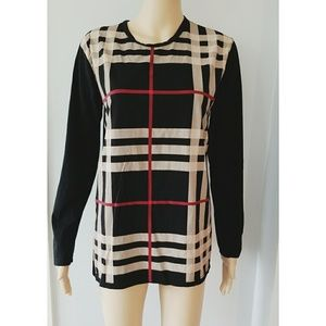 Burberry women's striped long sleeve Size XL